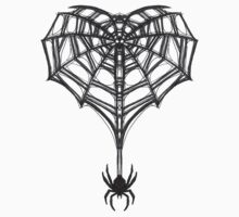 Gothic Spider Web Heart by SinfulStitches