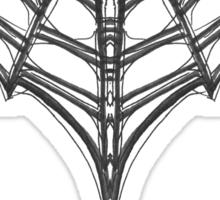 Gothic Spider Web Heart Sticker