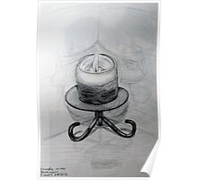 Candle Reflected Poster
