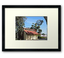 The Old Railway Station & Windmill, 'Kaniva' Vic. Aus. Framed Print
