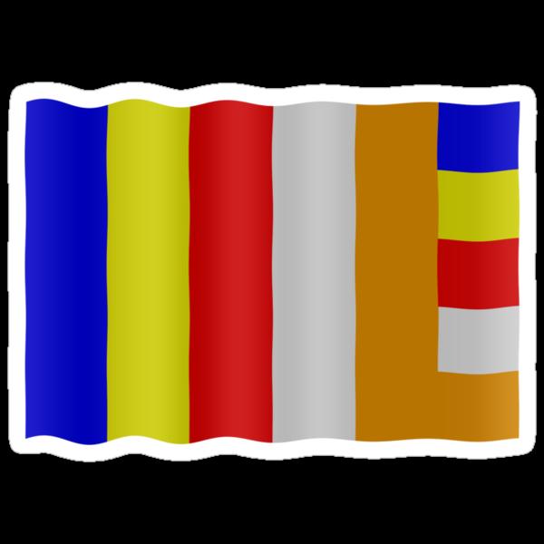 Buddhist flag by stuwdamdorp