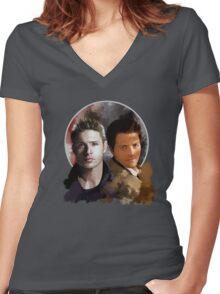 Cas & Dean Women's Fitted V-Neck T-Shirt