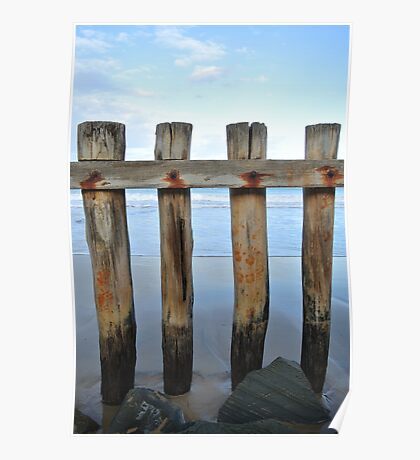 Wooden Poles at Point Roadknight Poster
