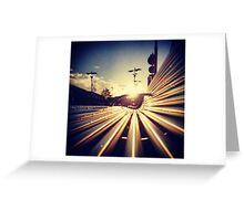 Good Morning Sunderland - Sunrise through a Bench Greeting Card