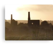 Dark Cornwall - Abandoned Mills at Sunset Canvas Print