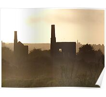 Dark Cornwall - Abandoned Mills at Sunset Poster
