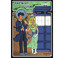 Doctor Who Nouveau Jump in my Tardis Photographic Print
