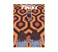 Congratulations It's Twins The Shining Horror Birthday Greetings Card Art Print