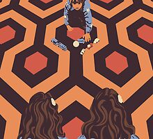 Congratulations It's Twins The Shining Horror Birthday Greetings Card by Creative Spectator