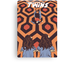 Congratulations It's Twins The Shining Horror Birthday Greetings Card Canvas Print
