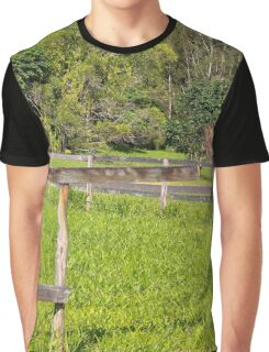 Broken fence on a rural property Graphic T-Shirt