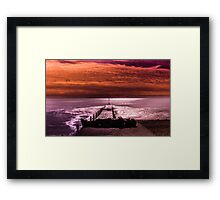 Border of Sea and Sky Framed Print