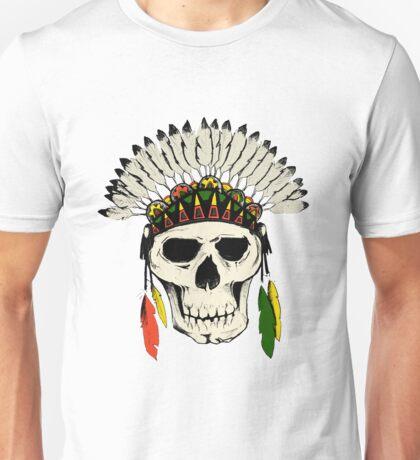Skull Headdress Unisex T-Shirt