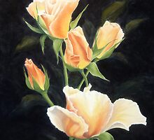 Reminiscent Rose Buds by Mary  Thomas