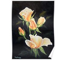 Reminiscent Rose Buds Poster