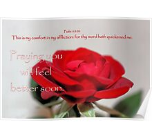 Praying You Will Get Well Soon Poster