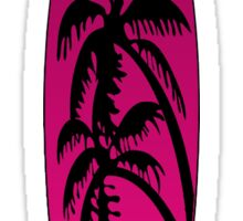 Surfboard Palm Trees (Pink) Sticker
