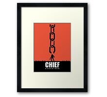 Master Chief Unchained  Framed Print