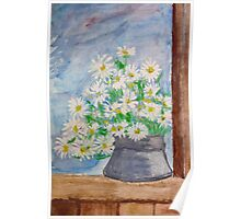 Bouquet of daisies painting Poster