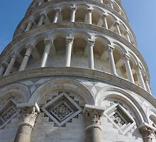 Leaning Tower in Pisa angle shot by kirilart