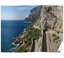 View from Via Krupp on island Capri Poster