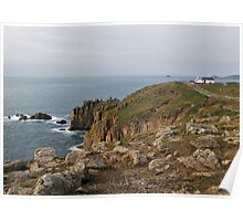 Land's End The most western point of UK Poster