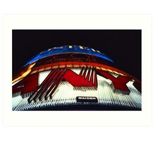 Neon Lights – Leicester Square, London, 1980s Art Print