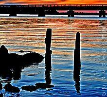 Long Beach, NY     Railroad Sunset by KarenDinan