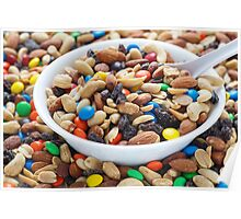 Trail Mix in White Bowl Poster