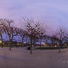 Champ de Mars at sunset. by Gideon van Zyl