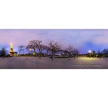 Champ de Mars at sunset. Photographic Print