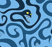 Funny Evil Cartoon Snakes In Love IPhone Case by Boriana Giormova