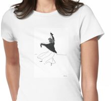 Dancing girl Womens Fitted T-Shirt