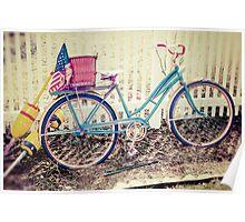 Vintage Retro Antique Bicycle Poster