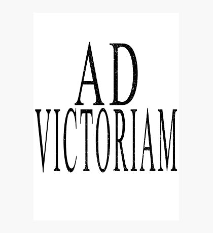 Ad Victoriam (BLK) Photographic Print
