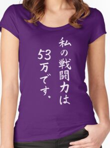 "Dragon Ball Frieza ""My battle power is 530,000."" White Women's Fitted Scoop T-Shirt"