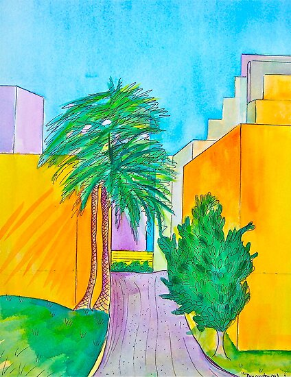 Downtown Los Angels Alleyway by Christine Chase Cooper
