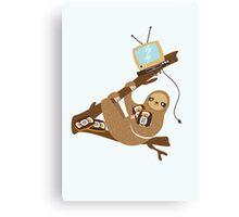 VHS Sloth Canvas Print