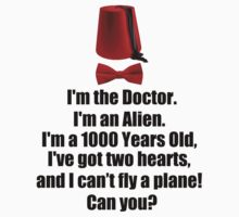 I'm the Doctor I'm an alien ( T-Shirt & Sticker ) by PopCultFanatics