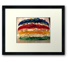 Layer Rainbow Cake Framed Print