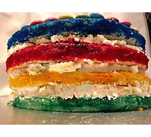 Layer Rainbow Cake Photographic Print