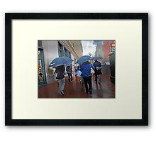 San Francisco in the Rain Framed Print