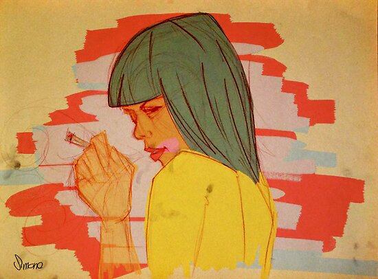 Smoking girl by Simone Tranchina