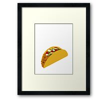 I Will Stab a Man for Tacos Framed Print