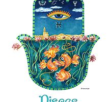 Hamsa for Pisces by Nonna Mynatt