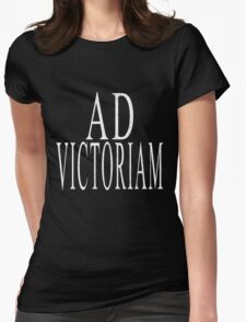 Ad Victoriam (WHT) Womens Fitted T-Shirt