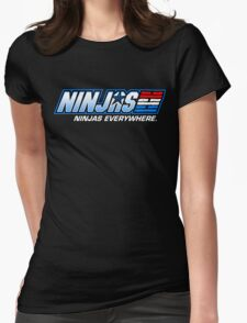 Ninjas. Ninjas EVERYWHERE. Womens Fitted T-Shirt