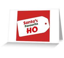 Santa's Favourite Ho Greeting Card