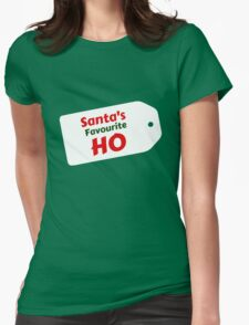 Santa's Favourite Ho Womens Fitted T-Shirt