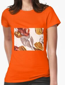 Silver and Gold Design  Womens Fitted T-Shirt